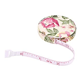 1pc Accurate Tape Measure Tapeline Body Fitness Measuring Body Measurement Tailor Sewing Craft Cloth Dieting Measuring Tape(Rural Rose)