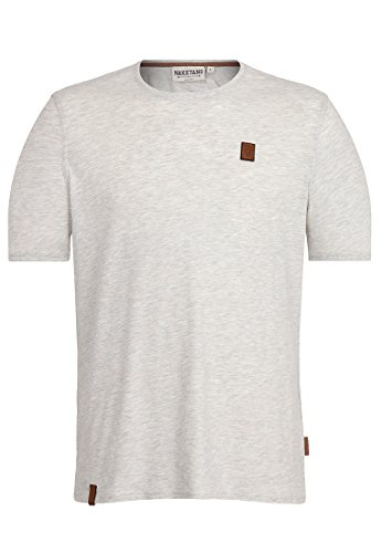 Naketano Male T-Shirt Italienischer Hengst VI Stone Grey Melange