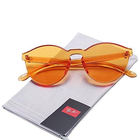 Pro Acme One Piece Design Rimless Sunglasses Ultra-Bold Colorful Mono
