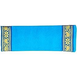 Yoga Malai - Almohada relajante para ojos (funda de algodón, relleno de lavanda y linaza, 27 x 20 cm) azul azul celeste