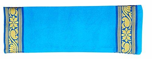 Yoga Malai - Almohada relajante para ojos funda de algodón, relleno de lavanda y linaza, 27 x 20 cm...