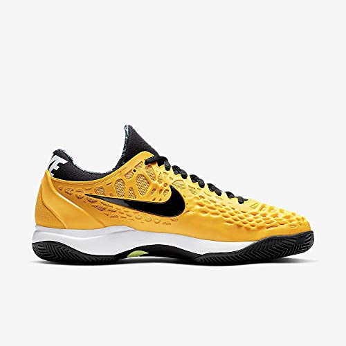 Nike Air Zoom Cage 3 Cly, Scarpe da Tennis Uomo, Multicolore (University Gold/Black/White/Volt Glow 700), 42 EU