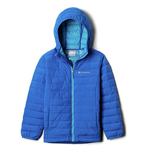 Columbia Jungen Powder Lite Daunenjacke Mit Kapuze, Super Blue, 4T (4t Columbia Jacke)