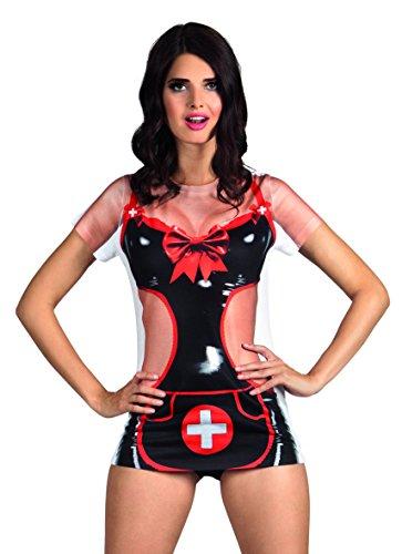 ealistisches Shirt Naughty Nurse, Kostüme für Erwachsene (Arzt Halloween Kostüm Für Frauen)
