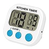 SMAtech Küchenuhr Küchentimer mit großem LCD Display große Ziffern und Tasten lauter Alarm...