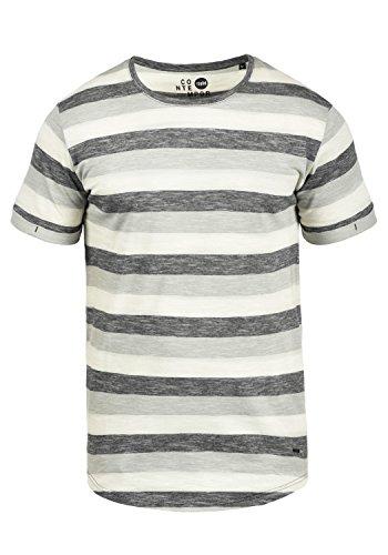!Solid Thicco Herren T-Shirt Kurzarm Shirt mit Streifen und Rundhalsausschnitt 100% Baumwolle, Größe:M, Farbe:Black (9000) -