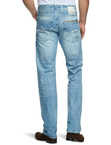 G-Star Attacc Low Straight - Jeans - Homme Bleu (Light Aged 4862)