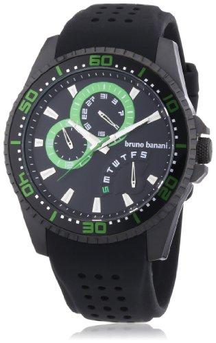 Bruno Banani Men's Watch XL Analogue Rubber Quartz BR22006 Shiva