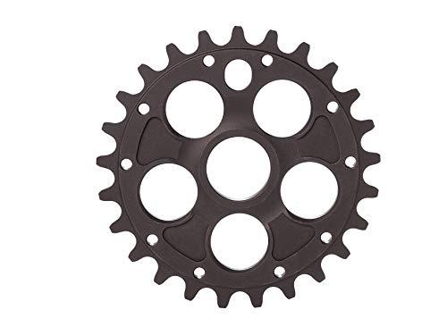 RMD BIKE CO. Unisex- Erwachsene Alpha kettenblatt BMX MTB Dirt   23T 25T 28T   Schwarz und Rot   Made in EU  , Black,