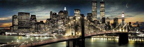 empire-173232-nueva-york-poster-de-los-rascacielos-por-la-noche-158-x-53-cm