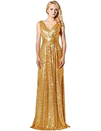 Sarahbridal Long Evening Dresses for Women UK Sequins Prom Dress Gowns Wedding Ball Party Dresses Ladies