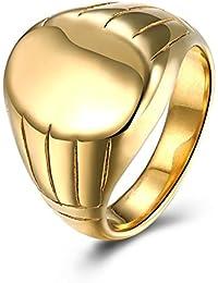 a55a63f9ddfde0 AieniD Gioielli Acciaio Inossidabile Anello Per Le Uomo Forma Della Patata  Anello Ballo Di Fine Anno