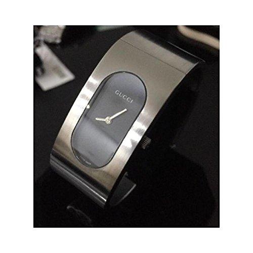 Orologio Gucci Donna 2400L Al quarzo (batteria) Acciaio Quandrante Nero Cinturino Acciaio