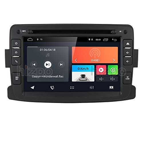 Android 10 Autoradio mit Bluetooth GPS Navigation für Dacia Renault Dokker Duster Logan Sandero Dacia Renault 2012-2017, 1 Din 7 Zoll Touchscreen Auto DVD Player Radio