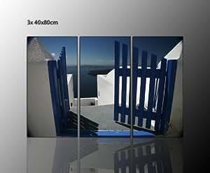 santorini bilder oia sch ne deko ideen f r ihr zuhause keilrahmen wandbild gate santorini. Black Bedroom Furniture Sets. Home Design Ideas