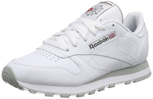 Reebok Classic Leather, Scarpe da Ginnastica Unisex - Adulto, Bianco (Int-White/Lt. Grey), 36 EU