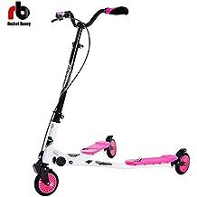 BTM - Patinete, 3 ruedas, para niños de más de 7 años, tamaño grande