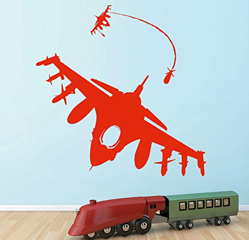 wwwff kampfflugzeug raketen bomber hund kampf luftkampfflugzeug Vinyl wandkunst aufkleber 85 * 85