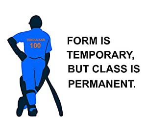 Wallstick Sachin tendulker with Quotes wallstickers (Vinyl 110 cm x 80 cm)
