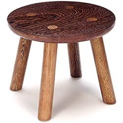Uus Hähnchenflügel Holz Kupfer Füße Kleine Runde Hocker Mahagoni Hausgarten Tisch Hocker Kinder Modern Minimalist Bank Massivholz Schemel (größe : #1)