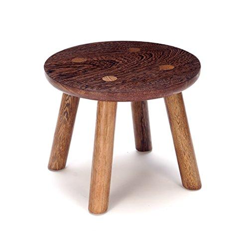 Uus Hähnchenflügel Holz Kupfer Füße Kleine Runde Hocker Mahagoni Hausgarten Tisch Hocker Kinder Modern Minimalist Bank Massivholz Schemel (größe : #1) -