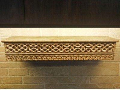 Onlineshoppee Hand Carved Wooden Wall Shelf Jali Work