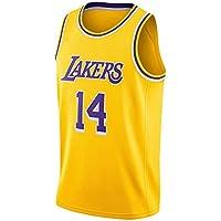 Danny Green Basketball Jersey, Los Angeles Lakers # 14 Fan Jersey Retro Basketball Jersey, Camiseta sin Mangas de Secado rápido Sudadera-Yellow A-XL
