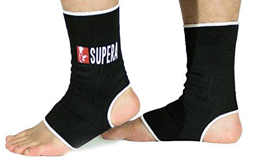 Vendaje elástico para pies SUPERA – tobillera elástica para la protección de los pies durante deportes de combate, artes marciales, muay thai, kickboxing al igual que otros deportes como handball, fútbol, correr (footing). Venda de apoyo, tobillera, venda