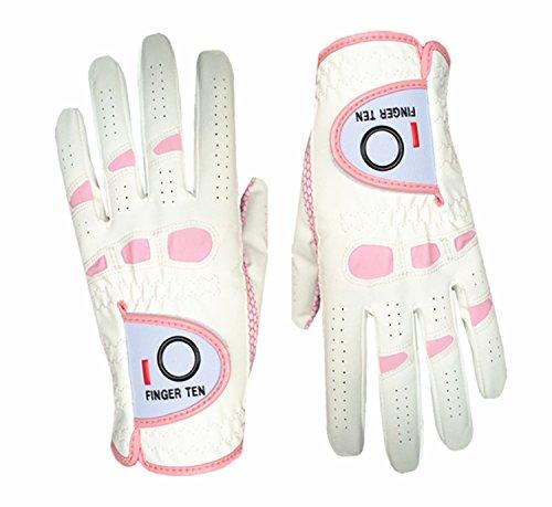Finger Zehn Damen Lady Golfhandschuhe WeatherSof Pro Grip Rechts und Links Golf Handschuh 2Pack Womens Golf Club Grips