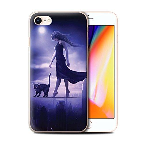 Officiel Elena Dudina Coque / Etui pour Apple iPhone 8 / Somnambule/Insomnie Design / Magie Noire Collection Somnambule/Insomnie