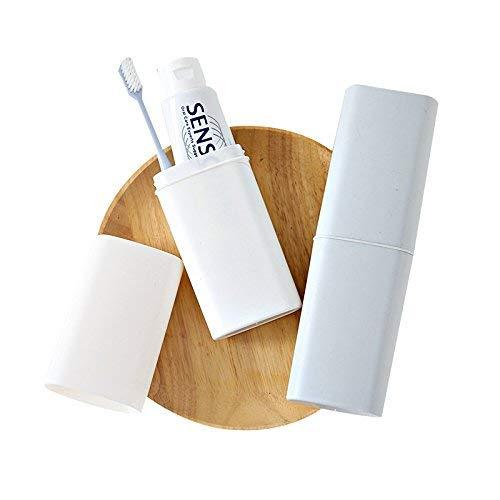 PANGUN Honana Einfache Design 2 Farboptionen Reisen Tragbare Pp Zahnbürste Zahnpasta Halter Aufbewahrung Box-Weiß