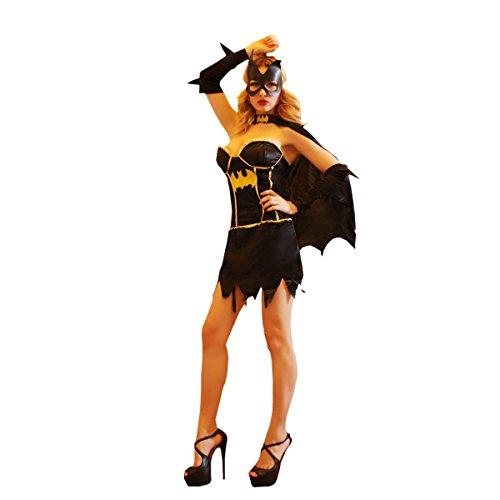 Personen Für Halloween 8 Kostüme (Nihiug Halloween Kostüm Cos Mann Superheld Sexy Erwachsene Weibliche Batman Nachtclub Ds Show Stage Suit)