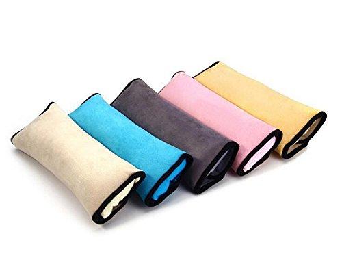 NEU Gurtpolster Gurtschoner Sicherheitsgurt Gurte Schlafkissen Nackenstütze Schulterpolster für Kinder Baby Kind DE(Grau)