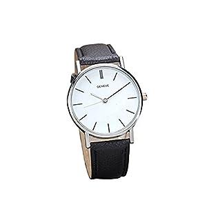 Correa de piel, rawdah para mujer analógico reloj de pulsera de cuarzo de aleación de retro diseño BK marca Rawdah