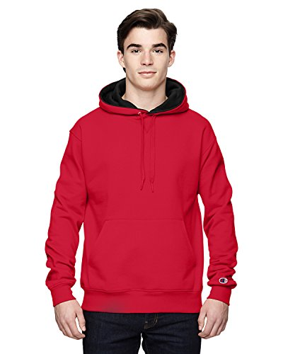 Champion 9.7 OZ, 90/10 Cotton Max Pullover Hood SP RED/ATH HTHR