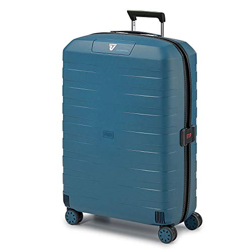 Roncato Trolley Grande 4r Exp. Box 4.0 Valigia, 80 cm, 130 liters, Blu (Azul)