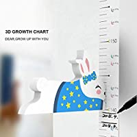 JUSTDOLIFE Wall Sticker Removable Kids Growth Chart Wall Decal Sticker for Home