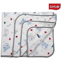 Luvlap Newborn Baby Soft Swaddling Blanket, White Bear (80cm x 100cm)