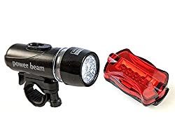 DivineXt Powerbeam Bicycle Headlight & Taillight Kit Black