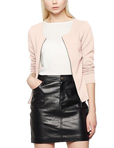 Vila CLOTHES Vinaja New Short Jacket-Noos, Chaqueta de Traje para Mujer, Rosa (Peach Blush Peach Blush), 34 (Talla del fabricante: X-Small)