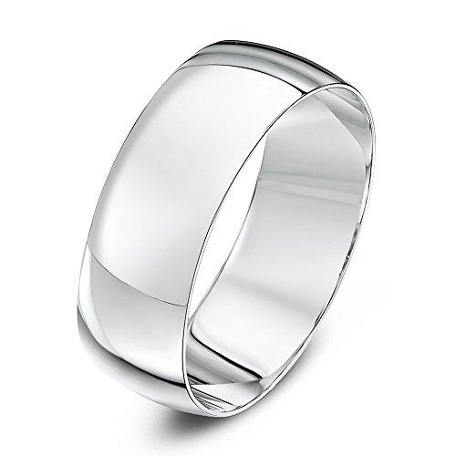 Theia-bracciale unisex, a forma di d, in oro 18 ct, anello nuziale, oro bianco, 12, colore: bianco, cod. th10112