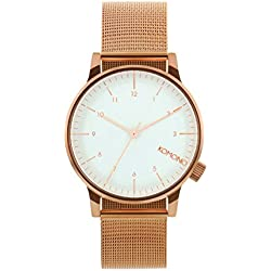 Komono Women's Watch Analogue Quartz Stainless Steel Rose Gold KOM-W2356