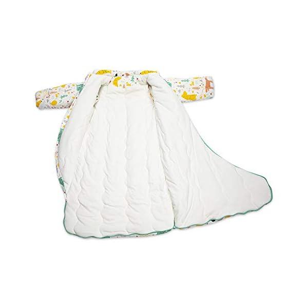 Saco de dormir de invierno para bebé, saco de dormir para niños, 3,5 tog, de algodón orgánico, varios tamaños, desde el nacimiento hasta los 4 años de edad blanco blanco Talla:S (3-6 Months)