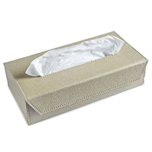 Ecoleatherette Handcrafted Tissue Paper Tissue Holder Car Tissue Box Beige Colour