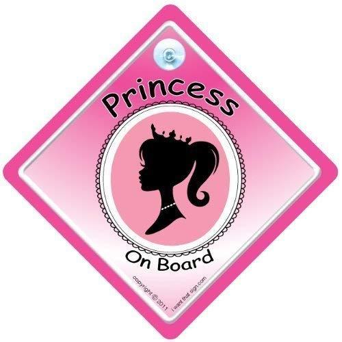 Personnalisé Daddys Princesse purplegol Bébé//Enfant à bord Voiture Fenêtre Signe NOUVEAU!