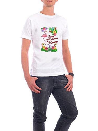 """Design T-Shirt Männer Continental Cotton """"Enjoy every Moment of Summer"""" - stylisches Shirt Typografie Floral Natur von Amely Sharon Maacken Weiß"""