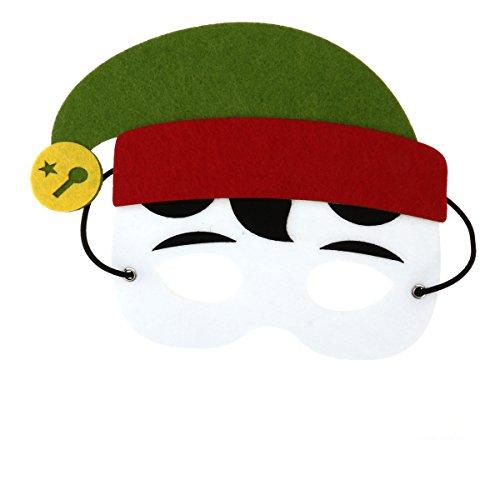 Toyvian Weihnachten Kostüm Maske Filz Elf Maske für Kinder Erwachsene Xmas Holiday Party Cosplay Costume Favors (Elf Kostüm Aus Filz)