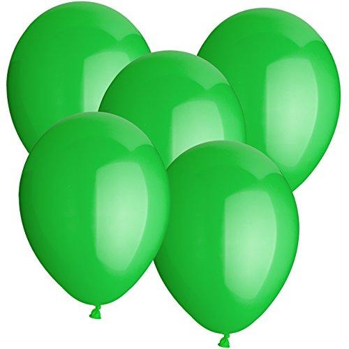 Premium Luftballons Gummiballons Latexballons 20 Stück - Ø 30cm - geeignet als Heliumballon mit Helium - freie Farbauswahl - Weiss Rot Hellblau Blau Dunkelblau Gelb Limonengrün Grün Orange Lachs Pink Rosa Lila Schwarz Klar Durchsichtig Transparent (Grün)