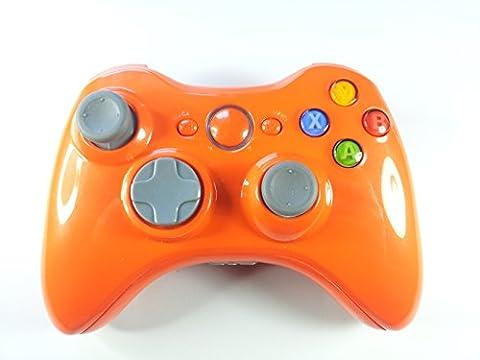 Schale/Gehäuse glänzend orange für Xbox 360 wireless Controller inkl. Mod Kit (ABXY Buttons, Thumbsticks, D-Pad, Guide Button, Start/Back Buttons, Bumper RB/LB, Middlebar + Sync Button, Trigger RT/LT, Bottom Trim)