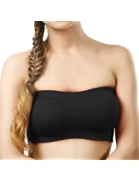 Fabme Women's Non-Padded, Non-Wired Seamless Tube Bra (Free Size)